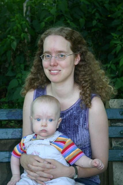 With Sarah at Tot Lot