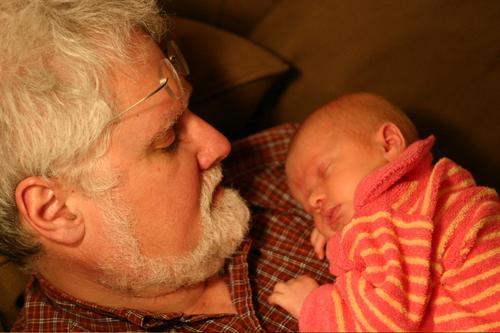 With Grandpa Douglas